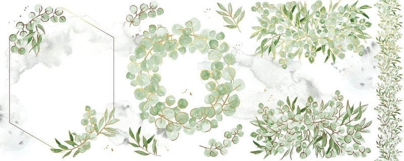 Eucalyptus Fantasy Washi Tape, Pink Fresh