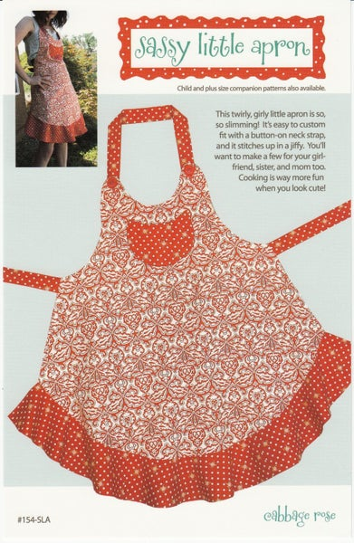 Sassy Little Apron Pattern- Cabbage Rose Designs