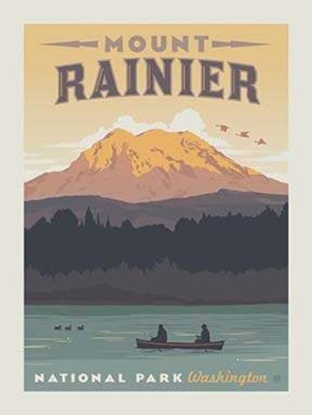 1 Yard National Parks Cut Fabric Panel, Rainier National Park