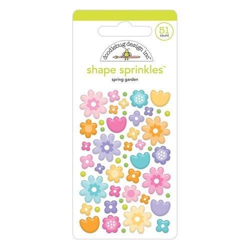 Spring Garden shape sprinkle embellishments, Fairy Garden by Doodlebug