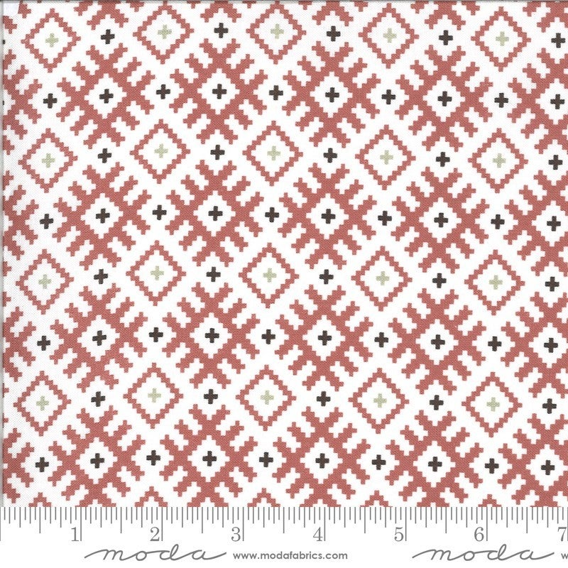1 Yard Cut - Folktale Gypsy Kiss Posie Pink - MODA Fabrics