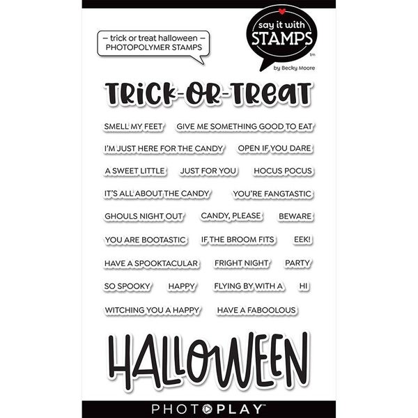 Trick or Treat Halloween Word Stamp Set by Photo Play - Say it With Stamps