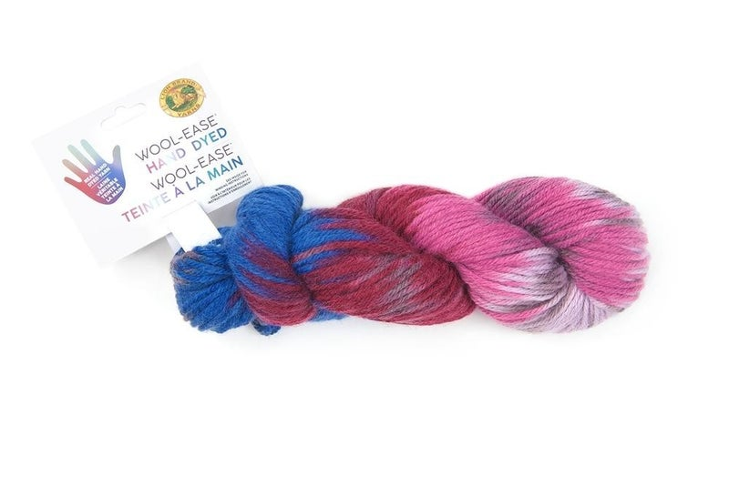 Lion Brand, Wool-Ease® Hand Dyed Yarn- Berry Cobbler