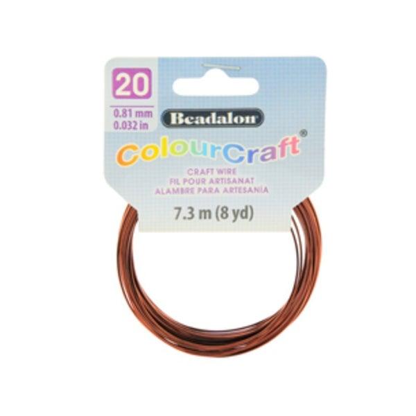 ColourCraft Wire- 20GA Brown Coil 8yd