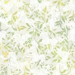 1 Yard Cut - Unicorns Leaves Cream and Green - Jason Yenter - In the Beginning Fabrics