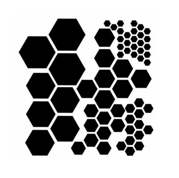 6x6  Hexagons Stencil