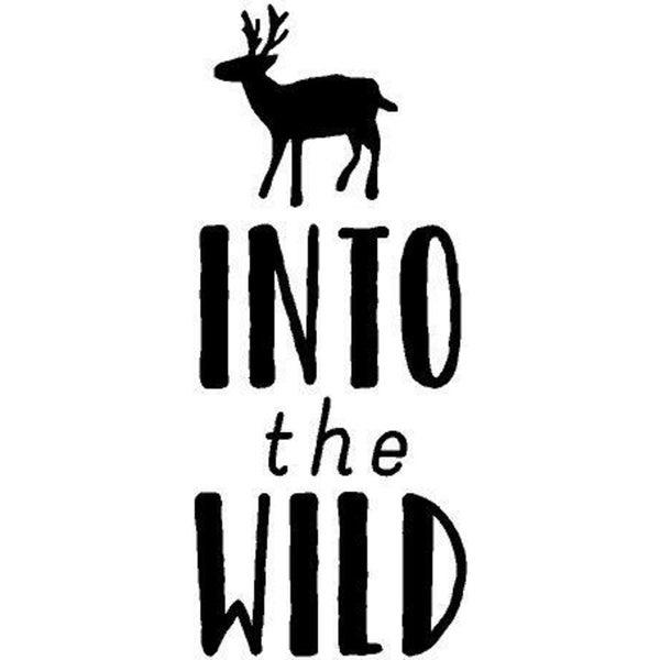 Rub- On Vinyl- Into the Wild, Black