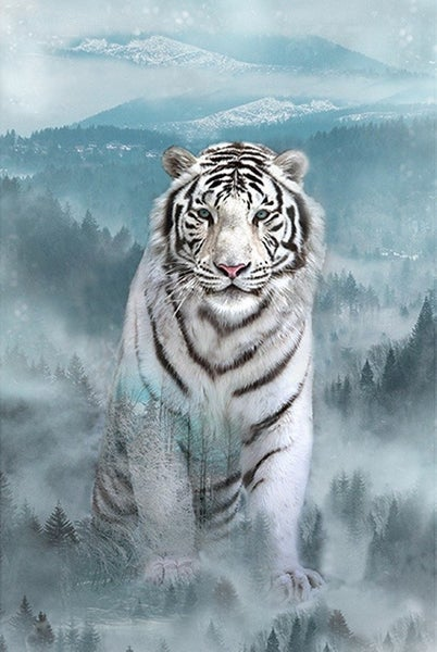 """43"""" x 30"""" Fabric Panel, Call of the Wild, Tiger"""