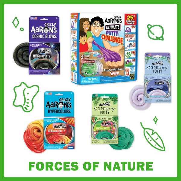 Crazy Aaron's Forces of Nature Thinking Putty Bundle