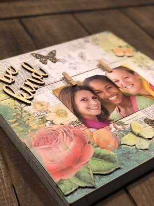 """Be Kind"" Pallet Board Photo Display"