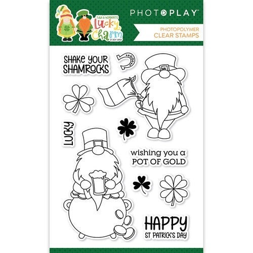 LUCKY CHARMS GNOME STAMP SET
