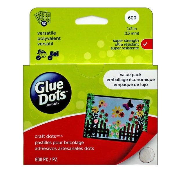 Glue Dots, 1/2 inch - Value Pack of 600