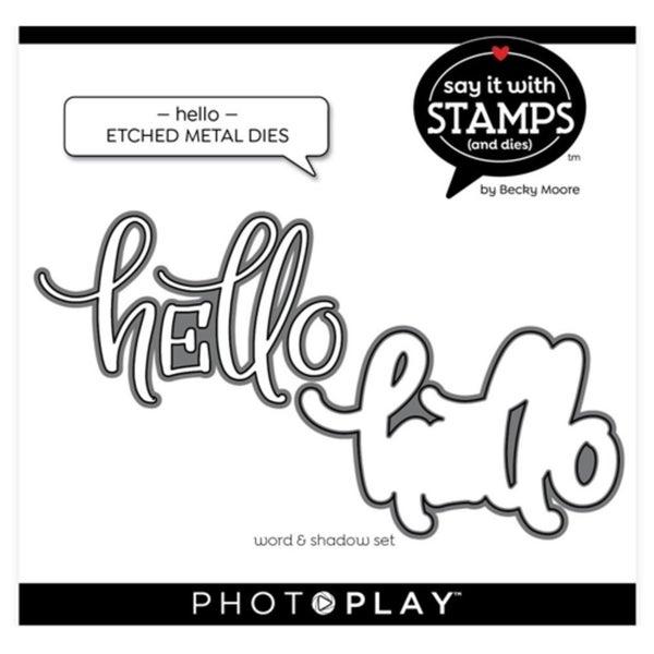 PhotoPlay- Hello Die Cut