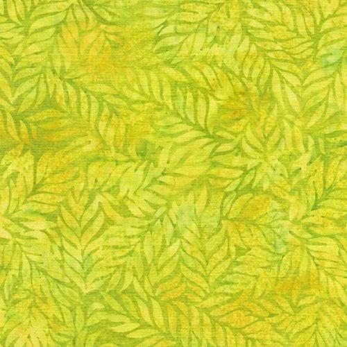 1 Yard Cut - Ohana Batik Fern Fabric, Chartreuse