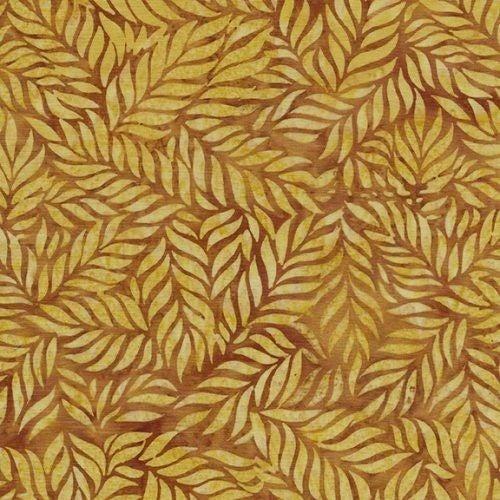 1 Yard Cut - Coco Cabana Batik Fern, Gold