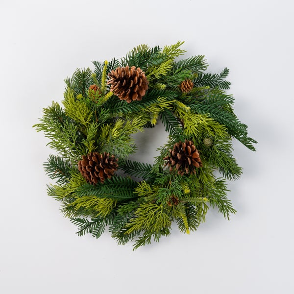 20 inch Fir Pinecone Wreath