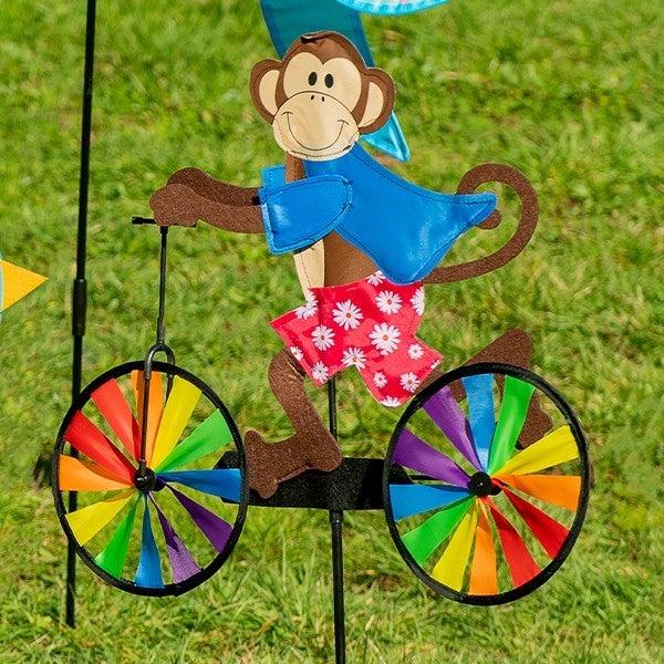 Monkey On Bike Wind Spinner
