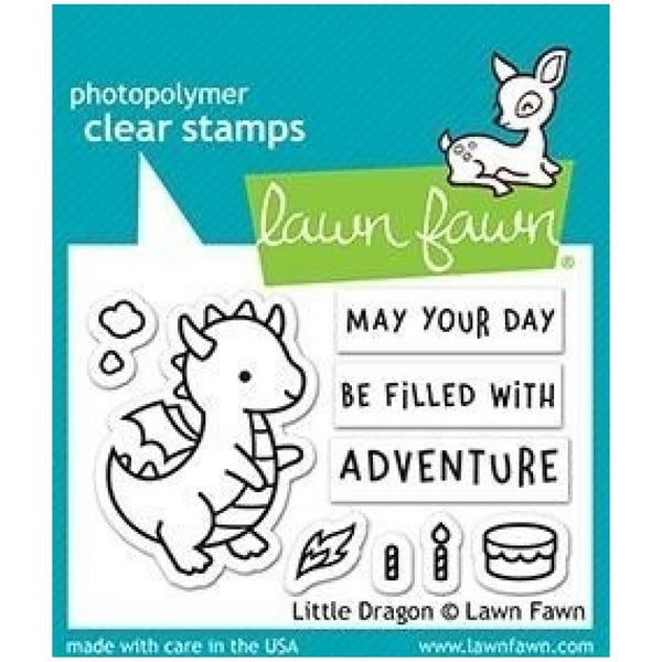 Little Dragons Stamp Set, Lawn Fawn