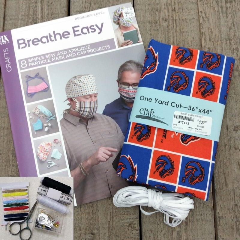 Mask Bundle Kit, Boise State University Block Print