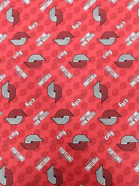 1 Yard NBA Cut Fabric, Portland Trailblazers Logo and Rip City Toss
