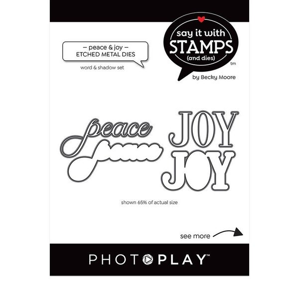 Peace Joy Word Die Set by Photo Play - Say it with Stamps