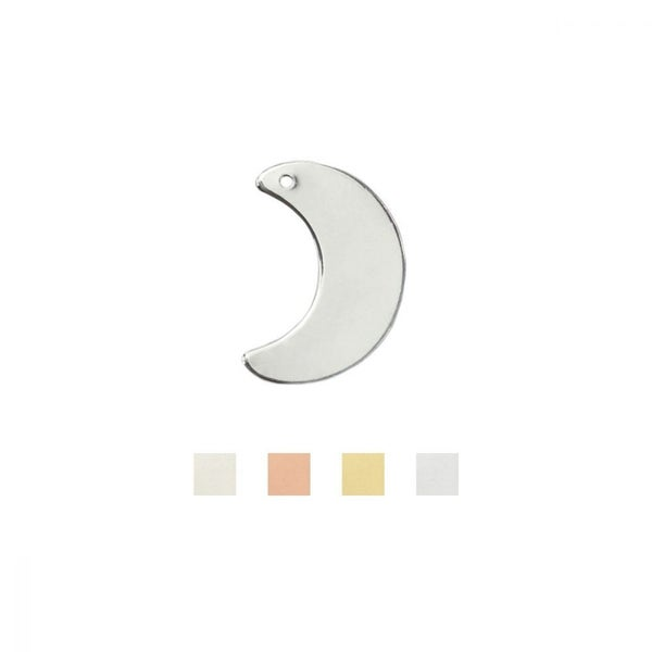 ImpressArt- Crescent w/ Hole, 1 inch , Stamping Blank