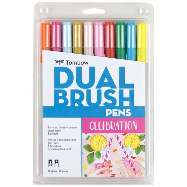 Dual Brush Pen Art Markers, Celebration, 10-Pack