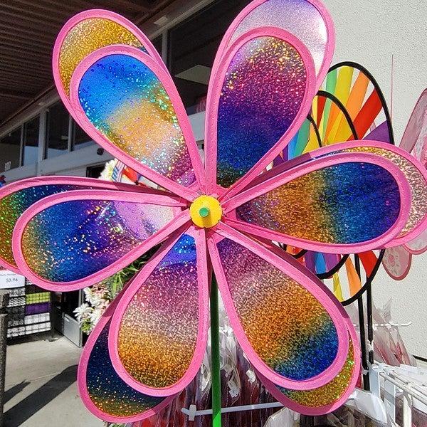 Metallic Flower Wind Spinner