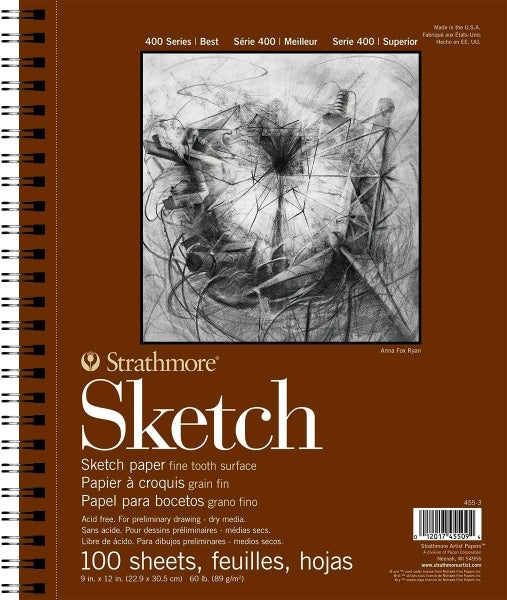 "Strathmore Sketch Pad, 9"" x 12"", 100/Sheets"