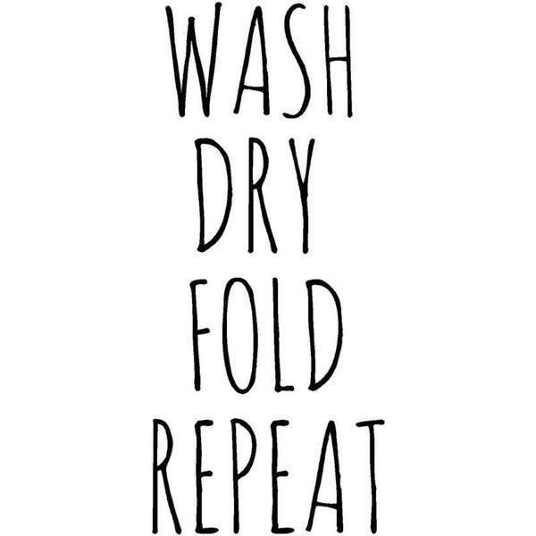 Rub-On Vinyl- Wash Dry Fold Repeat