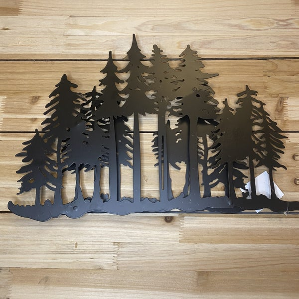 Trees with Second Overlay Black Rustic