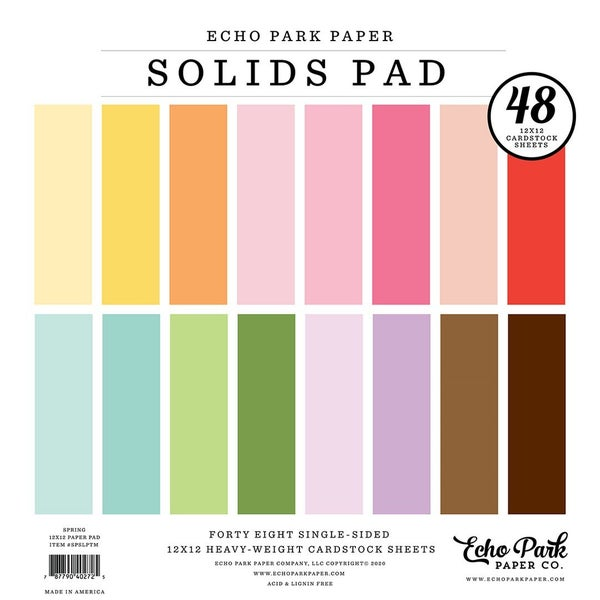 Spring Solids 12 inch x 12 inch Paper Pad