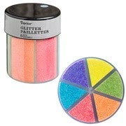 Darice® 6-Color Glitter Caddy: Neon