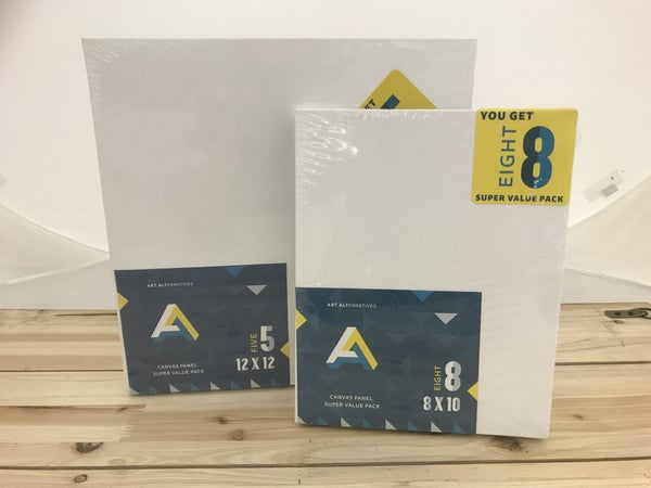 "5/Piece 12"" x 12"" and 8/Piece 8"" x 10"" Canvas Panel Bundle Pack"
