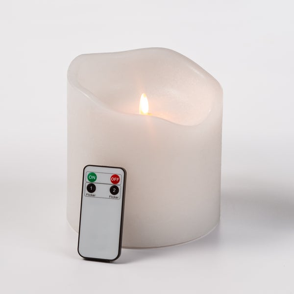 6 inch x 6 inch Pillar LED Candle with remote