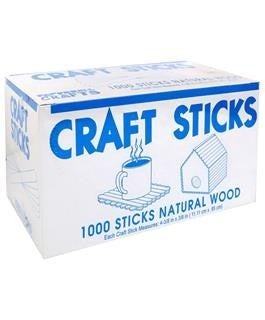 Wood Craft Sticks, 1000 Pieces/Sticks