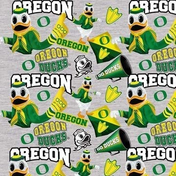 1 Yard College Cut Fabric, University of Oregon Mascot Toss