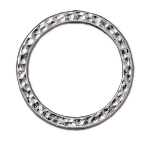Tierra Cast- 1 inch Hammertone Ring (three choices)