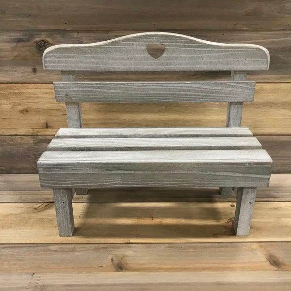 Antique White Bench - 9 3/4 inch x 15 3/4 inch