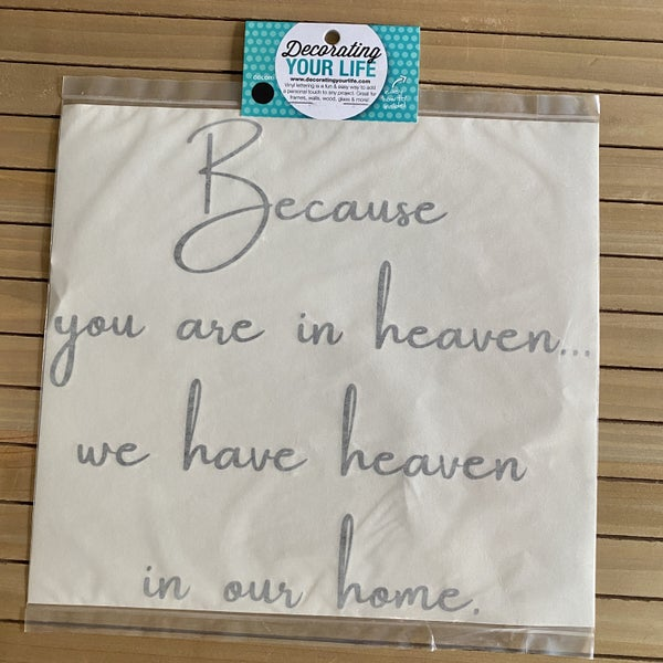 Because You Are in Heaven, Vinyl Black