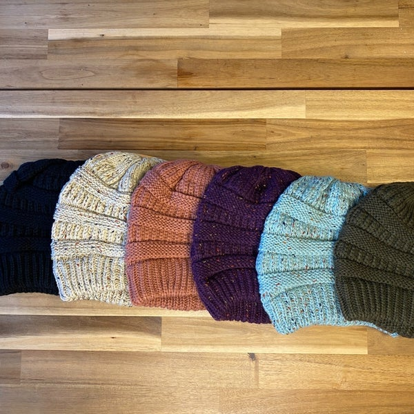 Knitted C.C. Beanie (6 colors Available)