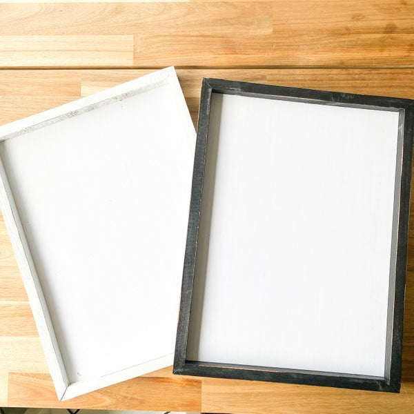 12x6 Framed White Plaque (Choose form two colors)
