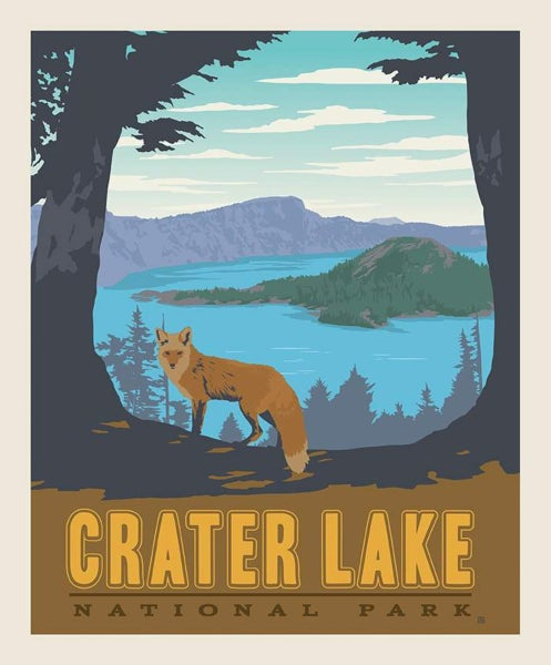 1 Yard National Parks Cut Fabric Panel, Crater Lake