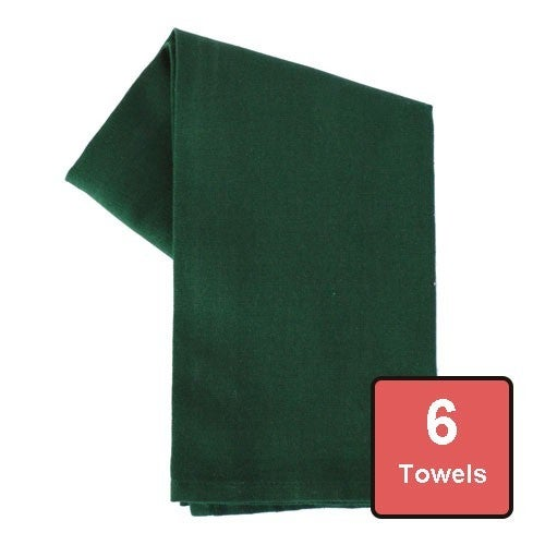 Holly Green Cotton Tea Towels 6pc