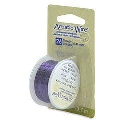 Artistic Wire- 26 Gauge  Dark Blue, 15 yd