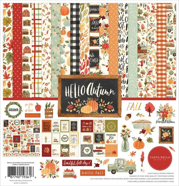 Echo Park- Hello Autumn- 12x12 Collection Kit