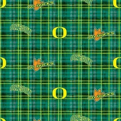 1 Yard College Cut Fabric, University of Oregon Duck Plaid
