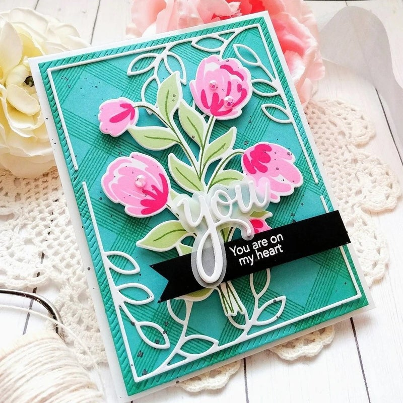 Pink Fresh Studios- Layered Bouquet Stamp Set