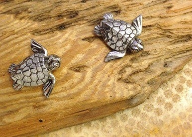 Green Girl Studio Pewter Baby Turtle Charm
