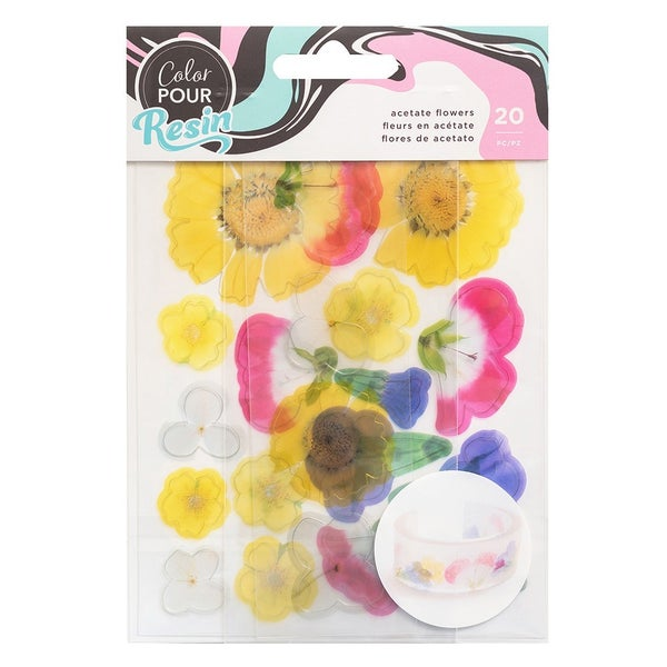 American Crafts - Mix-In Acetate Flowers by Color Pour Resin